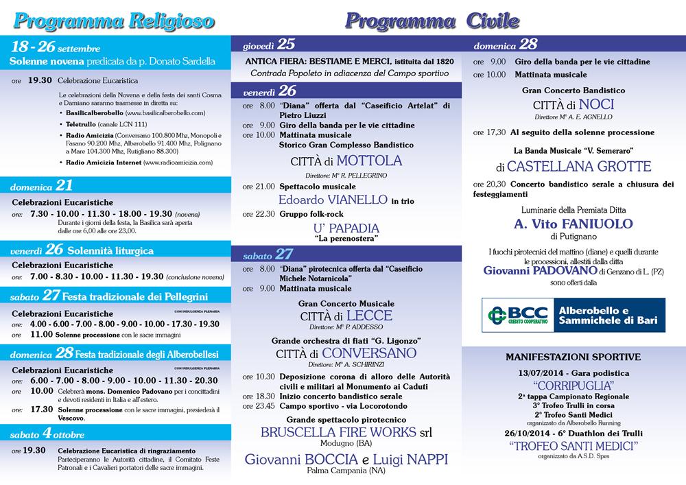 Calendario Corripuglia 2020.Comune Di Alberobello Portale Istituzionale
